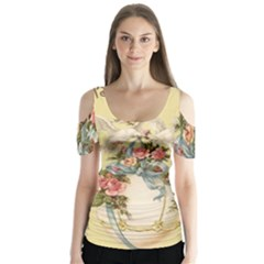 Easter 1225798 1280 Butterfly Sleeve Cutout Tee