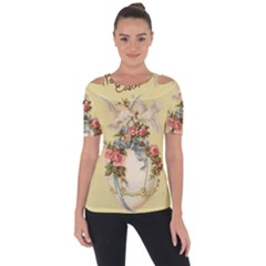 Easter 1225798 1280 Shoulder Cut Out Short Sleeve Top