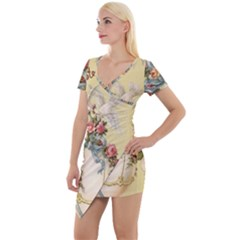 Easter 1225798 1280 Short Sleeve Asymmetric Mini Dress