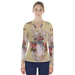 Easter 1225798 1280 V Neck Long Sleeve Top