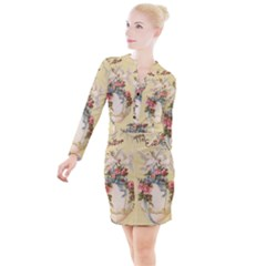 Easter 1225798 1280 Button Long Sleeve Dress