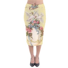 Easter 1225798 1280 Velvet Midi Pencil Skirt