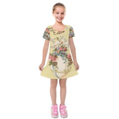 Easter 1225798 1280 Kids  Short Sleeve Velvet Dress