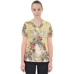 Easter 1225798 1280 Women s V Neck Scrub Top