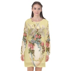 Easter 1225798 1280 Long Sleeve Chiffon Shift Dress