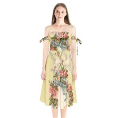 Easter 1225798 1280 Shoulder Tie Bardot Midi Dress