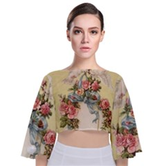 Easter 1225798 1280 Tie Back Butterfly Sleeve Chiffon Top