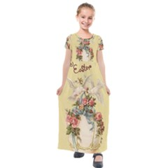 Easter 1225798 1280 Kids  Short Sleeve Maxi Dress