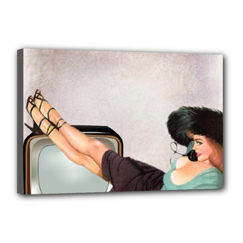 Vintage 1133810 1920 Canvas 18  X 12  (stretched)