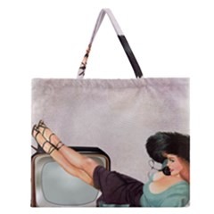 Vintage 1133810 1920 Zipper Large Tote Bag