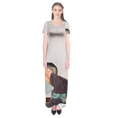 Vintage 1133810 1920 Short Sleeve Maxi Dress
