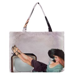 Vintage 1133810 1920 Zipper Medium Tote Bag