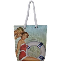 Retro 1135044 1920 Full Print Rope Handle Tote (small)