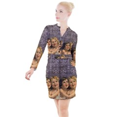Vintage 1143398 1920 Button Long Sleeve Dress