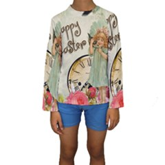 Easter 1225805 1280 Kids  Long Sleeve Swimwear