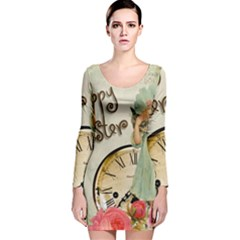 Easter 1225805 1280 Long Sleeve Velvet Bodycon Dress