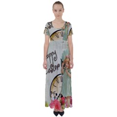 Easter 1225805 1280 High Waist Short Sleeve Maxi Dress