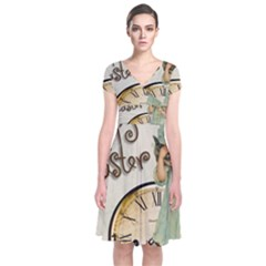 Easter 1225805 1280 Short Sleeve Front Wrap Dress
