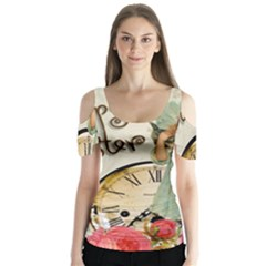 Easter 1225805 1280 Butterfly Sleeve Cutout Tee