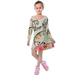 Easter 1225805 1280 Kids  Long Sleeve Velvet Dress