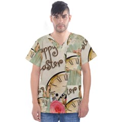 Easter 1225805 1280 Men s V Neck Scrub Top
