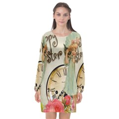 Easter 1225805 1280 Long Sleeve Chiffon Shift Dress
