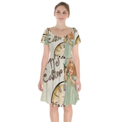 Easter 1225805 1280 Short Sleeve Bardot Dress