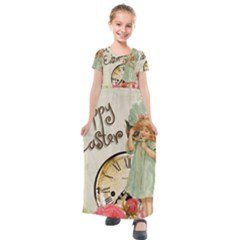 Easter 1225805 1280 Kids  Short Sleeve Maxi Dress