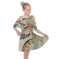 Easter 1225805 1280 Kids  Shoulder Cutout Chiffon Dress