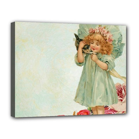 Vintage 1225887 1920 Canvas 14  X 11  (stretched)