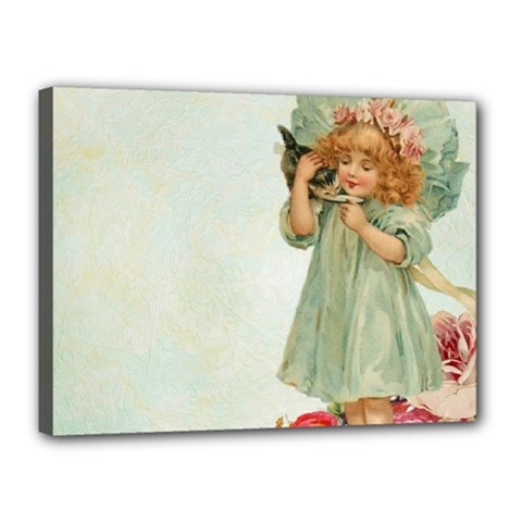 Vintage 1225887 1920 Canvas 16  X 12  (stretched)