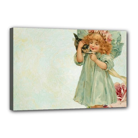 Vintage 1225887 1920 Canvas 18  X 12  (stretched)