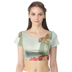 Vintage 1225887 1920 Short Sleeve Crop Top