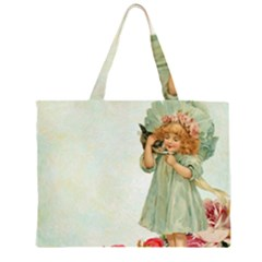 Vintage 1225887 1920 Zipper Large Tote Bag