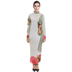 Vintage 1225887 1920 Turtleneck Maxi Dress