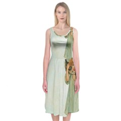 Vintage 1225887 1920 Midi Sleeveless Dress