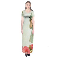 Vintage 1225887 1920 Short Sleeve Maxi Dress