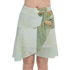 Vintage 1225887 1920 Chiffon Wrap Front Skirt