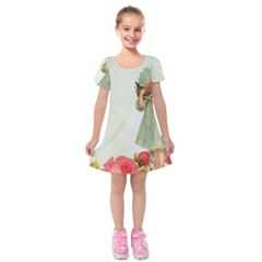 Vintage 1225887 1920 Kids  Short Sleeve Velvet Dress