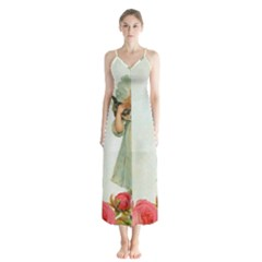 Vintage 1225887 1920 Button Up Chiffon Maxi Dress