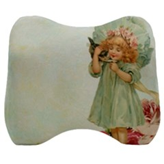 Vintage 1225887 1920 Velour Head Support Cushion