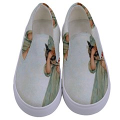 Vintage 1225887 1920 Kids  Canvas Slip Ons