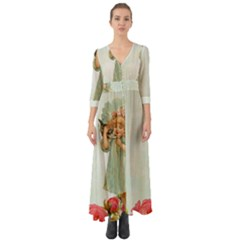 Vintage 1225887 1920 Button Up Boho Maxi Dress