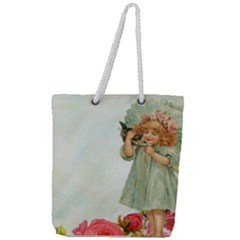 Vintage 1225887 1920 Full Print Rope Handle Tote (large)