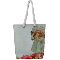 Vintage 1225887 1920 Full Print Rope Handle Tote (small)