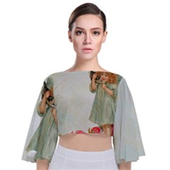 Vintage 1225887 1920 Tie Back Butterfly Sleeve Chiffon Top