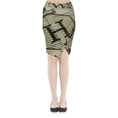 Fabric Pattern Textile Clothing Midi Wrap Pencil Skirt