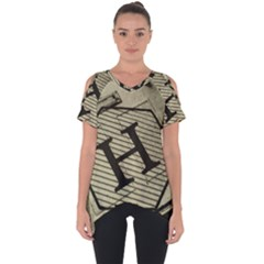 Fabric Pattern Textile Clothing Cut Out Side Drop Tee by Sapixe