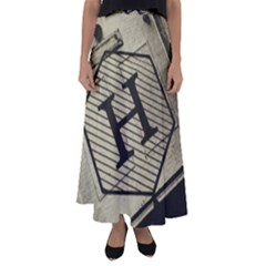 Fabric Pattern Textile Clothing Flared Maxi Skirt