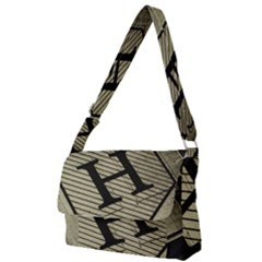 Fabric Pattern Textile Clothing Full Print Messenger Bag
